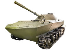 Experienced light amphibious tank K-90 isolated Stock Image