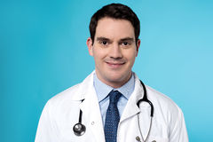 Experienced male doctor posing Royalty Free Stock Photography