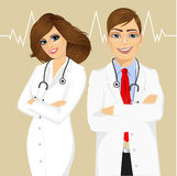 Experienced male and female doctors Stock Image