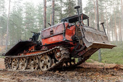 Experienced rusty all-terrain vehicle Stock Photo