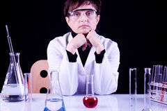 Experienced Scientist Royalty Free Stock Photography