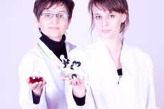 Experienced Scientist and Assistant Stock Photo