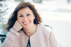 Experienced and self confident woman Royalty Free Stock Images