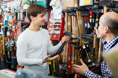 Experienced seller offering working tooling Royalty Free Stock Images