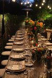 Experiencia de cena al aire libre Imagen de archivo libre de regalías