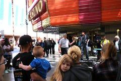 Experiencia de la calle de Fremont, Las Vegas, Nevada Fotografía de archivo