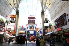 Experiencia de la calle de Fremont, Las Vegas, Nevada Foto de archivo libre de regalías