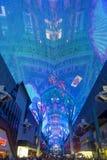 Experiencia de la calle de Las Vegas, Fremont Foto de archivo