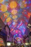 Experiencia de la calle de Las Vegas, Fremont Imagenes de archivo