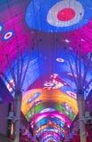 Experiencia de la calle de Las Vegas, Fremont Imagen de archivo libre de regalías