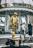 Experiencia de la calle de Las Vegas Fremont imagen de archivo libre de regalías