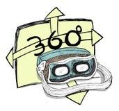 Experiencia de la realidad virtual y de 360 grados Fotos de archivo libres de regalías