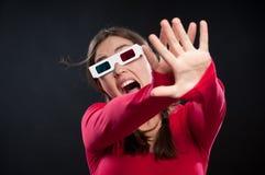 experiencia del cine 3D Foto de archivo libre de regalías