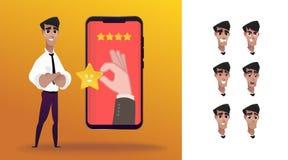 Experiencia del cliente de la CX libre illustration