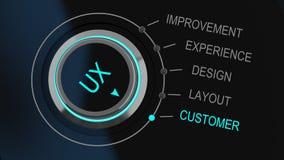 Experiencia del dial o del usuario de la supervisión del botón de control stock de ilustración