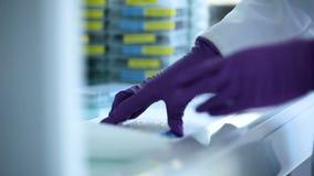 Experiencia del laboratorio médico metrajes