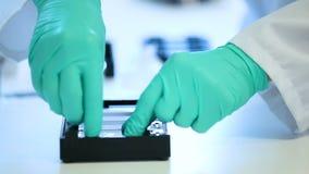 Experiencia del laboratorio médico almacen de video
