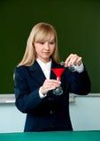 Experiencia química en la sala de clase Fotografía de archivo