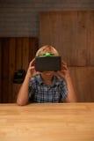 Experiencing virtual reality Stock Photos
