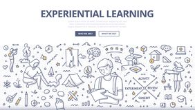 Experiential Learning Doodle Concept stock photo