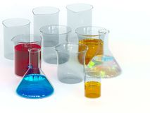 Experiment chemical in Lab. Royalty Free Stock Image