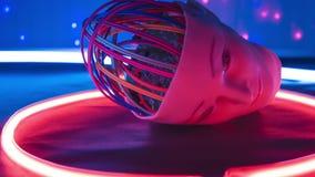 Experiment för ai för elektroniska huvudkablar nytt, intelligens för lära för maskin konstgjord lager videofilmer
