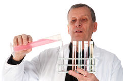 Experiment im Labor stockbild