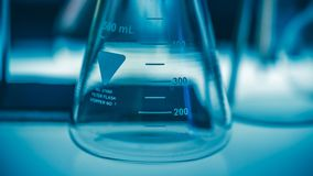Test Beaker In Science Laboratory royalty free stock photography