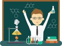 Experiment van de wetenschaps het goede chemie vector illustratie