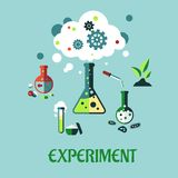 Experiment vlak ontwerp stock illustratie