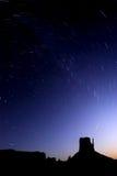 Experimentação da estrela sobre o parque do vale do monumento Fotografia de Stock