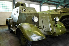 Experimental armored car BA-21. Soviet Royalty Free Stock Image