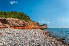 Experimental Beach in Cap Des Falco in Ibiza Stock Photography