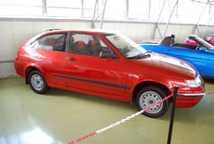 Experimental cars in the Technical museum of AVTOVAZ. City of Togliatti. Samara region. Royalty Free Stock Images