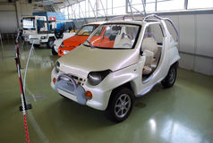Experimental cars in the Technical museum of AVTOVAZ. City of Togliatti. Samara region. Royalty Free Stock Image