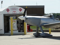 Experimental Harmon Rocket at the fuel pumps. Royalty Free Stock Photography