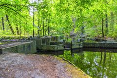 Experimental installations in the Waterloopbos Stock Photography