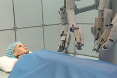 Experimental robotic surgery. healthcare and medical concept Royalty Free Stock Photography