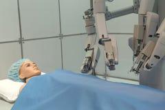 Experimentelle robotergestützte Chirurgie Gesundheitswesen und medizinisches Konzept Lizenzfreie Stockfotografie