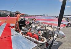 Experimenteller Flugzeugmotor Stockfotos