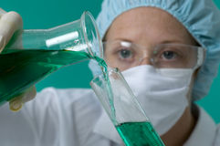 Experimenting in the lab Stock Image