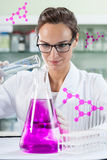 Experimenting in laboratory Royalty Free Stock Image