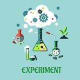 Experimentlägenhetdesign stock illustrationer