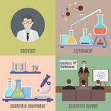 Experimento científico y equipo libre illustration