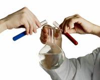 Experimento químico Imágenes de archivo libres de regalías