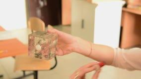 Experimentos del imán durante estudiar la física almacen de video