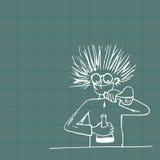 Experimentos peligrosos y descubrimientos inesperados ilustración del vector