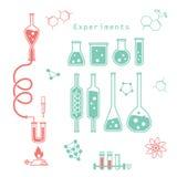Experimentos químicos Fotografía de archivo libre de regalías