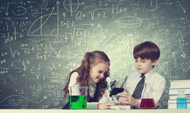 Experiments in laboratory Stock Photos