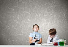Experiments in laboratory Royalty Free Stock Image